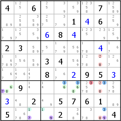Sudoku technique: Example for ALS-XY-Wing
