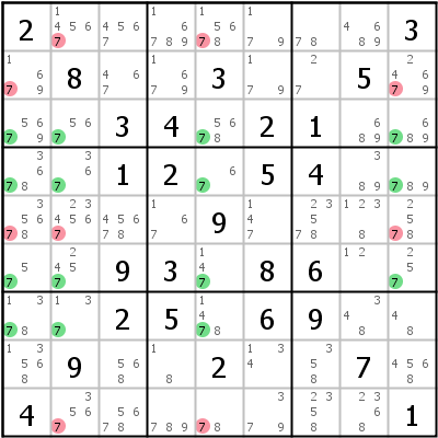 Sudoku technique: Example for Jellyfish