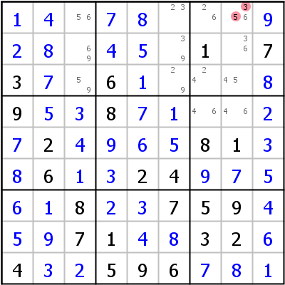 Sudoku technique: Example for BUG+%2B+1