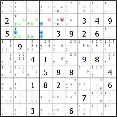 Sudoku technique: Example for Death+Blossom