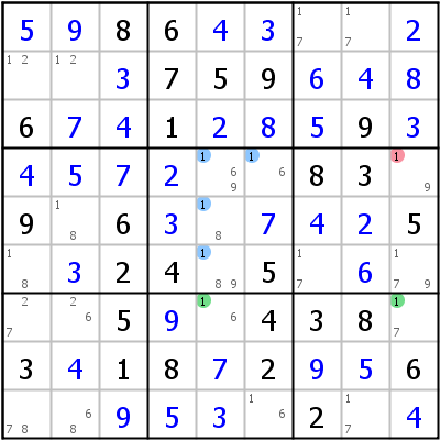Sudoku technique: Example for Empty+Rectangle