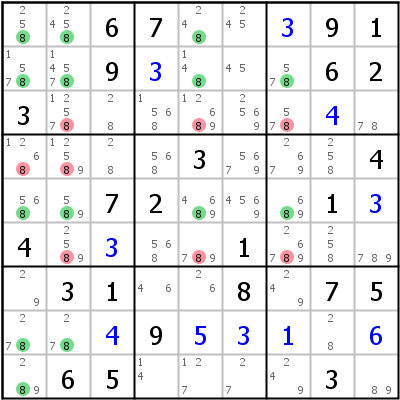 Sudoku technique: Example for Franken+Jellyfish