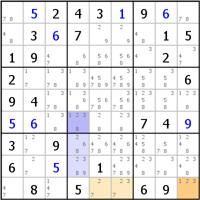 Sudoku technique: Example for Group+nodes