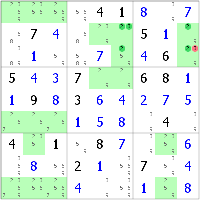 Sudoku technique: Example for Hidden+Rectangle+with+missing+candidate