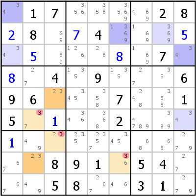 Sudoku technique: Example for Multi+Colors