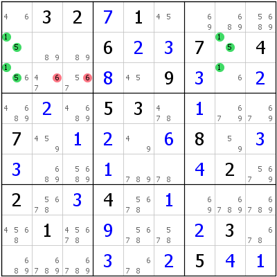 Sudoku technique: Example for UR+Type+2+with+missing+candidate