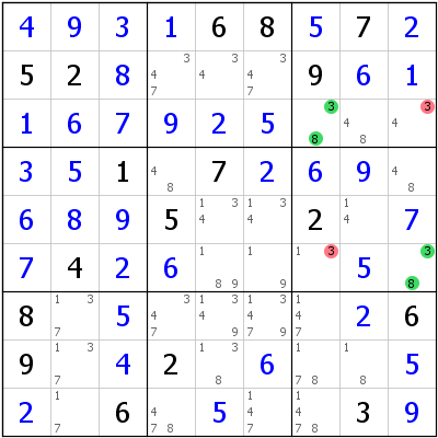 Sudoku technique: Example for UR+Type+6+with+missing+candidate