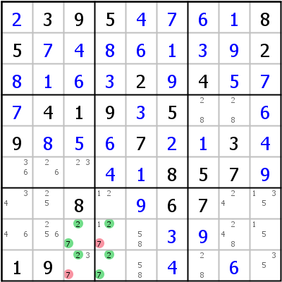 Sudoku technique: Example for Unique+Rectangle+Type+6